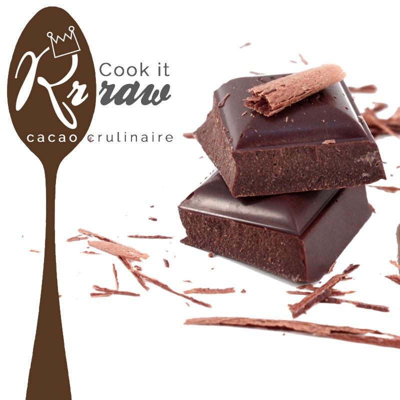 Chocolat cru pâtissier 75% au sucre de noix de coco