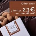 Trio de Fèves en Robe de Cacao NATURE