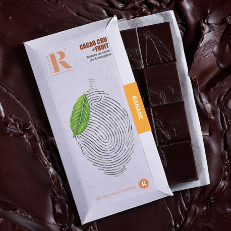 Tablette Cacao+Fruit Banane (45gr)