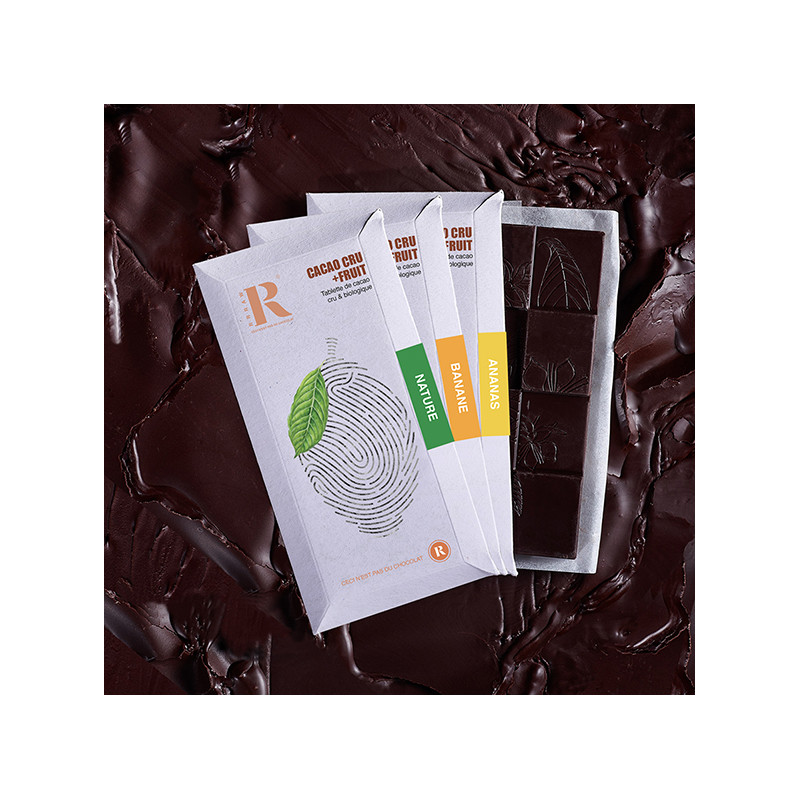 Trio Tablettes Cacao+Fruit