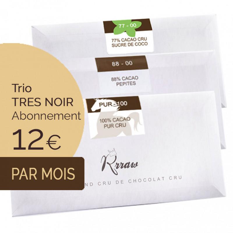 Trio TABLETTES Très noir
